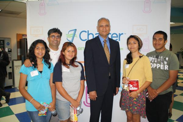 Dr. Ed Hernandez w/ Bassett Students at the SGV Water Wise Lunch Screening