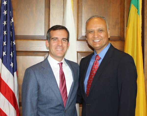 Dr. Ed and Los Angeles Mayor Eric Garcetti