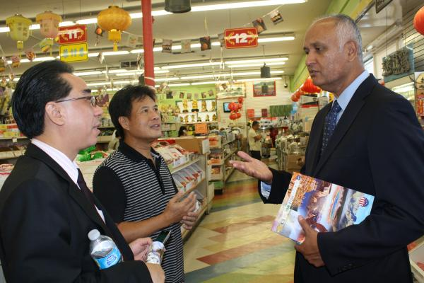 Talking to Shop Owners in Monterey Park