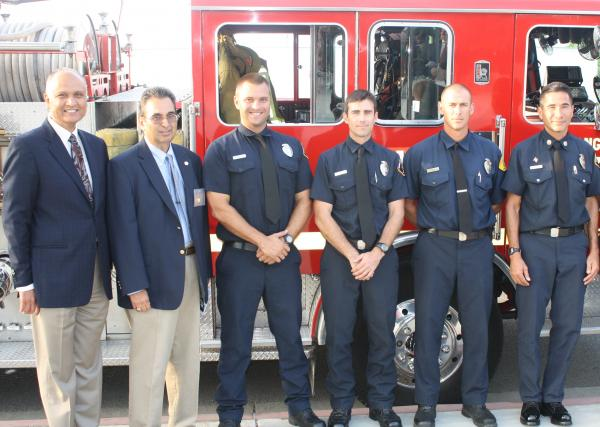 Honoring Local County Firefighters