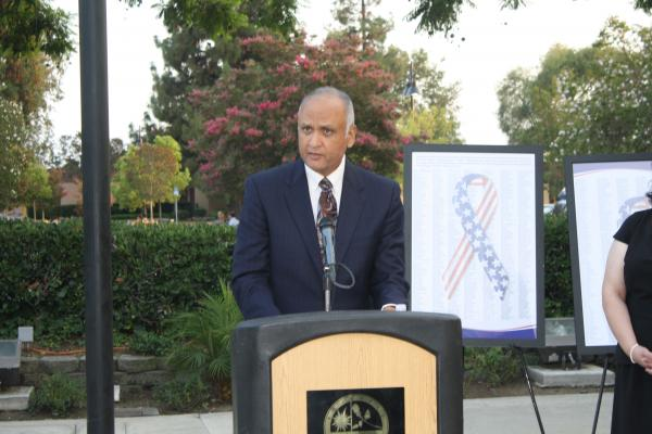 Dr. Ed Speaking at the 9-11 Tribute Ceremony