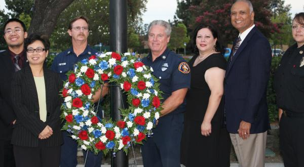 Senator Dr. Ed Hernandez,O.D. Joins Local Community Leaders and Firefighters in Wreath Ceremony